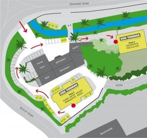 Lageplan von ZOO THOMAS - Hier finden Sie sich zurecht!